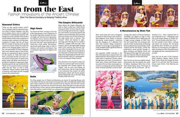 Shen Yun In Livid Magazine New