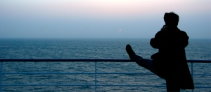 From France, we traveled to Ireland by overnight ferry, where at dawn dancer Gary Liu was already hard at work (Annie Li).