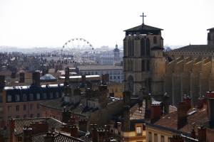 Lyon was the last European stop on the silk road, and it's still famous for its silk today—think Hermès (Annie Li).