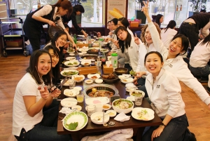 Being in Korea, we couldn't do without sampling the famous Korean barbecue! (Zimin Jia)