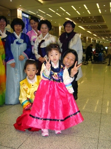 Among the fans welcoming us at the airport was this little Korean girl who especially caught our attention. (Danielle Wang)