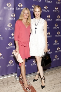 Author Candace Bushnell and actress Kelly Rutherford.