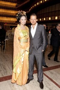 Edward Chapman, CEO of Marchesa fashion house (right).