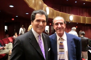 Emmy-award winning Fox 5 <i>News at 10</i> anchor Ernie Anastos (left).