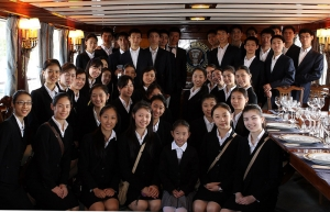 Shen Yun New York Company aboard the presidential USS Sequoia.