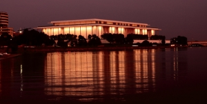 A night view of Washington's Kennedy Center Opera House.