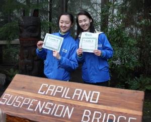 Siamo venuti, abbiamo visto e abbiamo conquistato. I ballerini di Shen Yun Jade Zhan (sinistra) e Feiyang Xie. (Erin Battrick; Canon T3)