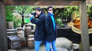 """Haben Sie das Poster für den neuen Hollywood-Action-Streifen gesehen? Er heißt """"Shooters"""", mit Songtao Feng und William Shi. (Ben Chen; Lumix GF3)"""