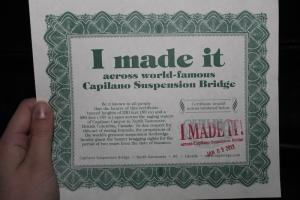 Abbiamo ricevuto perfino un certificato. (Erin Battrick; Canon T3)