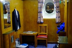 Es war wirklich über dreißig Jahre lang ein Kreuzfahrtschiff gewesen und transportierte wichtige Passagiere wie den großen Redner Winston Churchill während des zweiten Weltkriegs. Eines Tages wurde es stillgelegt und in ein Hotel umgewandelt. (Songtao Feng, Fujifilm XE1)