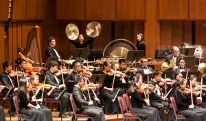 神韵交响乐团以西洋管弦乐队为基础,以二胡,琵琶等传统中国乐器为领奏或独奏,既有西方交响乐宽广、宏大和辉煌的气势,又突出表现中华五千年文明艺术的民族底蕴和独特风格。