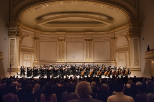 The Shen Yun Symphony Orchestra concert at Carnegie Hall began with the Star-Spangled Banner.