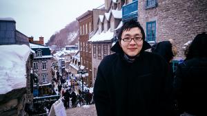 La più grande esperienza che abbiamo fatto in Quebec City, tuttavia, è che è davvero f-f-fredda… come il ballerino Steve Feng può attestare (foto mia)