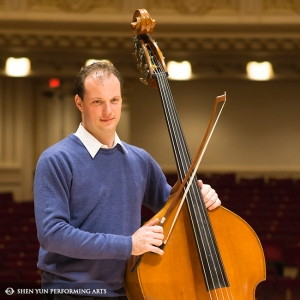 Now at New York's Carnegie Hall, Shen Yun's double bass player Juraj Kukan gets ready for two performances Oct. 11.