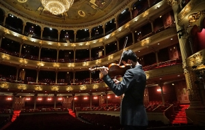 Violinist Steven Song practicing on stage at the Philadelphia Academy of Music. (photo by violist Jack Wang) The Philadelphia Academy of Music, where Shen Yun's Touring Company performed. (photo by violinist Hirofumi Kobayashi) Stephanie Guo adjusting zoom at the San Francisco War Memorial Opera House, where Shen Yun's World Company performed. (photo by dancer Erin Battrick) Dancers Joe Huang, Yuan Ming, and Jun Liang at San Francisco City Hall. (photo by dancer Jun Liang) Dancer Yuan Ming in San Francisco. (photo by dancer Jun Liang) Principal Dancer Lily Wang taking a picture In San Francisco. (photo by dancer Songtao Feng) Dancer Antony Kuo warming up before a performance at the San Francisco War Memorial Opera House. Shen Yun's World Company wrapped up seven shows in six days in front of full audiences at the landmark theater. Principal Dancer Rocky Liao practicing a butterfly kick. (photo by dancer Songtao Feng) Dancer Suzuki Rui intimidating his enemies mid-air. (photo by dancer Songtao Feng) Andy Shia La-Buff. (photo by dancer Songtao Feng) Me. (photo by dancer Songtao Feng) Antony Kuo. (photo by dancer Songtao Feng) World Company's Vina Lee working with principal dancer Lily Wang. (photo by dancer Songtao Feng) Halfway through our journey to the west. (photo by dancer Ben Chen) Dancers Andy Shia and Ben Chen, as well as oboist Torsten Trey face the dilemma of the year's very first truck loading. How do you get everything to fit? Don't worry, eventually they somehow did. (photo by Jun Liang)