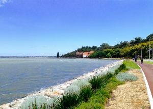 Pista ciclabile lungo il fiume Swan di Perth (foto del ballerino Songtao Feng)