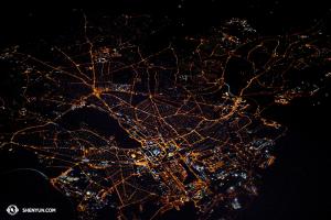 Tento snímek zachycuje neznámou část Anglie ve dvě hodiny ráno. (vyfotila Annie Li)