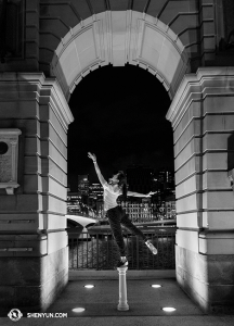 Next stop - Brisbane, Australia, where dancer Stephanie Guo poses by the river. (photo by dancer Lily Wang)