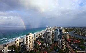 Wie oft fangen Sie einen doppelten Regenbogen ein? (Foto: Tänzer Ben Chen)