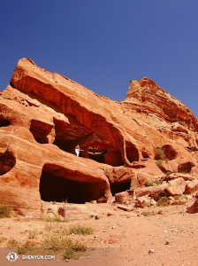 They danced in Jordan's red rock caves…