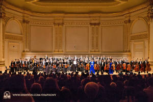 Both concerts at Carnegie Hall Oct. 15 came to a close with standing ovations and three encore performances.