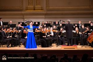 Il soprano Haolan Geng con la sua voce potente, ha suscitato un'ovazione tra il pubblico.