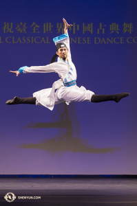 Shen Yun's Alvin Song, who won first place in the adult male division.