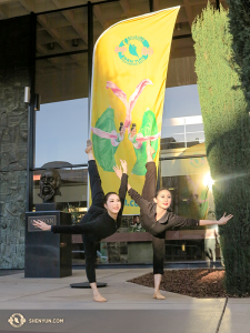 A few hours south, in California's Fresno, principal dancers Hsiao-Hung Lin (left) and Angelia Wang are