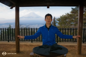The beautiful scenery and temples surrounding Mt. Fuji inspire serenity and self-examination. Our dancer Alex Chun took the opportunity for a tranquil meditation with the great Sacred Mountain as a perfect background.