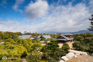 The view from Nijo Castle in Kyoto. (Photo by Kenji Kobayashi)