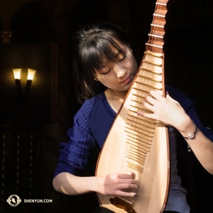 The pipa is a dynamic instrument that requires dexterous fingers for its plucking and strumming techniques. (Photo by Annie Li)