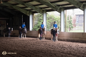 Dancers at the Trent Park Equestrian Centre in North London. (Photo by dancer Stephanie Guo)