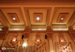 The Granada Theatre lobby walls, Santa Barbara. (Photo by Annie Li)