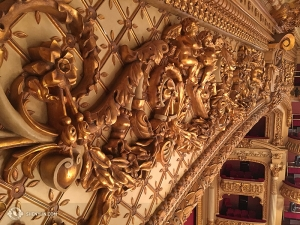 劇場のすみずみまで凝った装飾が施されている。ここで公演できて光栄だった(撮影:リジャイナ・ドン)