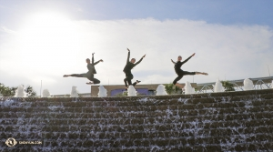 From left: Dancers Rachael Bastick, Emily Pan, and Lavender Han. (Photo by dancer Kaidi Wu)