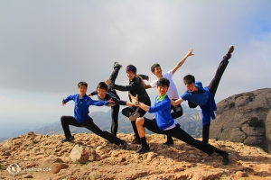 Dancers (from left) Jeff Chuang, Songtao Feng, Rui Suzuki, Jiheng Zhao, Antony Kuo, and Zack Chan at Montserrat, looking forward to a few more weeks in Europe.