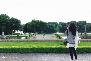 Diana Teng enjoying the 2,000 acres-worth of gardens that belong to Blenheim Palace, once home to Winston Churchill. (Photo by Cindy Chi)