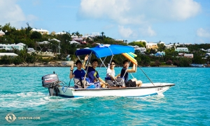 Others followed the great tradition of the Caribbean vacation, in this case Bermuda, where dancers (from left) Danny Li, Felix Sun, Benjamin Lee, and Jason Pan chillaxed.