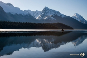 His photos from Alberta, Canada show the great range of chroma during different times of day. (Photo by TK Kuo)