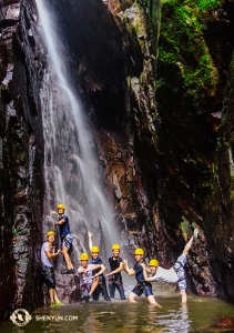 They also went on a rock climbing rainforest tour in Puerto Rico. (Photo by Felix Sun)