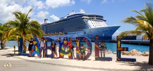 Even after being together in the same dressing rooms, hotel rooms, airplanes, and buses 24 hours a day for months, these dancers choose to also take their vacations together. As part of their Caribbean cruise, they visited Labadee, Haiti.