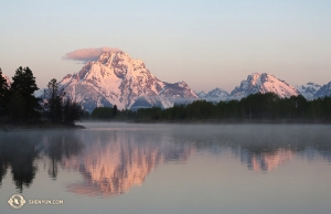 Sunrise at Oxbow Bend, Grand Teton National Park. Symbolic for the end of a vacation, which marks the dawn of a new season. (Photo by Kexin Li)
