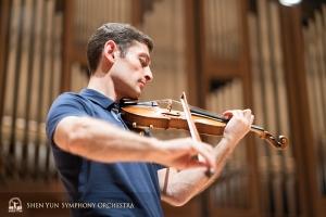 Assistant concertmaster Arsen Ketikyan.