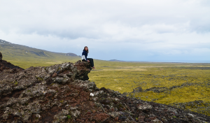 On top of one of the three volcanoes we climbed, Snæfellsjökull... That is, our 700,000-year-old stratovolcano friend that did not let us pass.