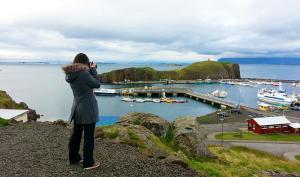 Punto Tiffany, una delle migliaia di cascate che ci sono in Islanda