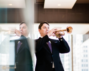 Russian-born trumpeter Vladimir Zemtsov joined Shen Yun Performing Arts in 2017.