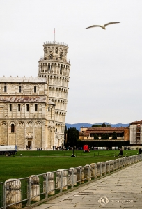 The famous Leaning Tower of Pisa was built over a span of 199 years. Although the angle of the tower was not created on purpose, it turned an oops into an icon! (Photo by dancer Felix Sun)