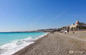 A quiet beach in Nice, France. The Shen Yun New York Company was in town for a performance at the Nice Acropolis Convention Centre. (Photo by dancer Felix Sun)