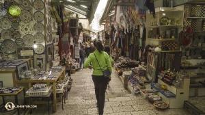 וכמובן, סיור בשוק העיר העתיקה של ירושלים (צילום: טיפאני יו)