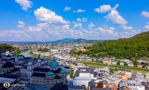 From the Salzburg Fortress you can see much of the city and landscape. (Photo by dancer Felix Sun)